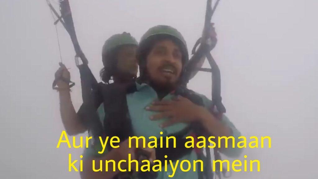 Aur ye main aasmaan ki unchaaiyon mein vipin sahu indian man funny paragliding meme template