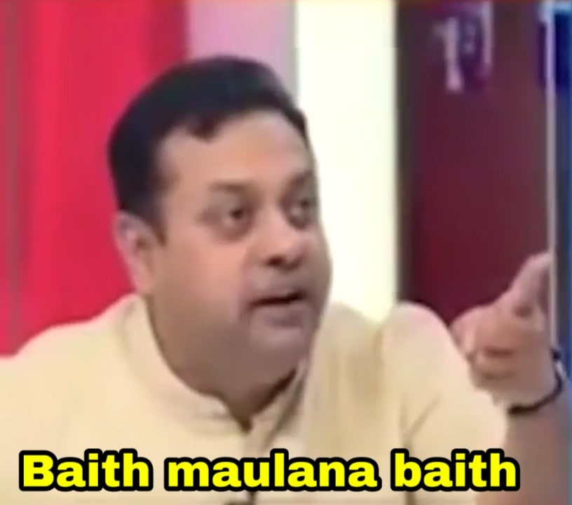 baith maulana baith Sambit Patra meme