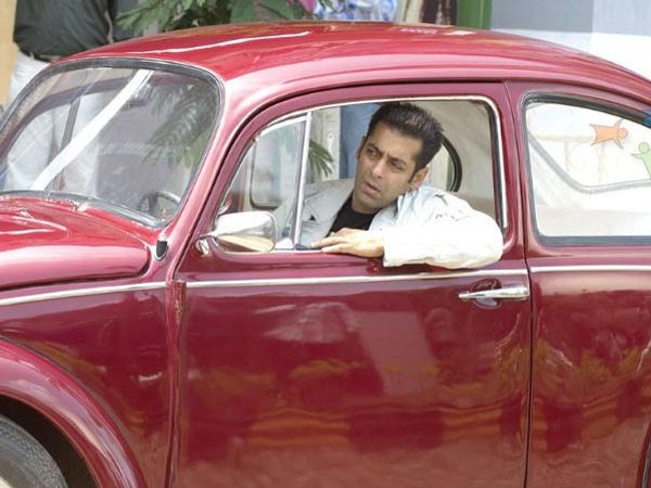 salman khan Bhai driving a red car meme