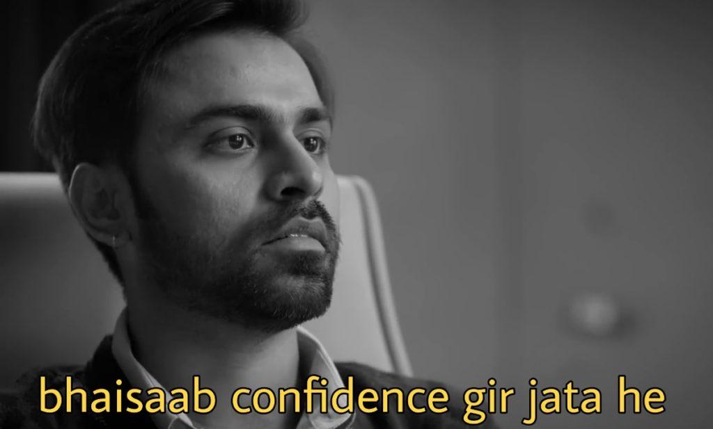bhaisaab confidence gir jata he Jeetu Bhaiyaa kota factory quotes memes template