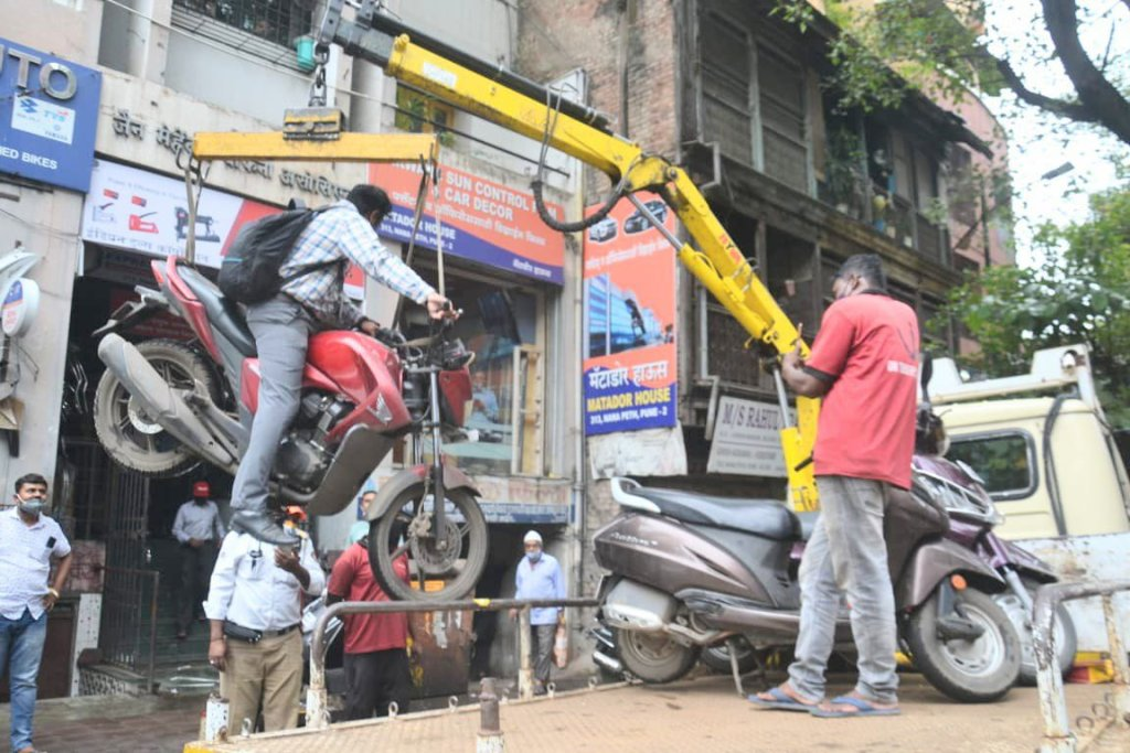 bike lifted by the crane along with the rider meme