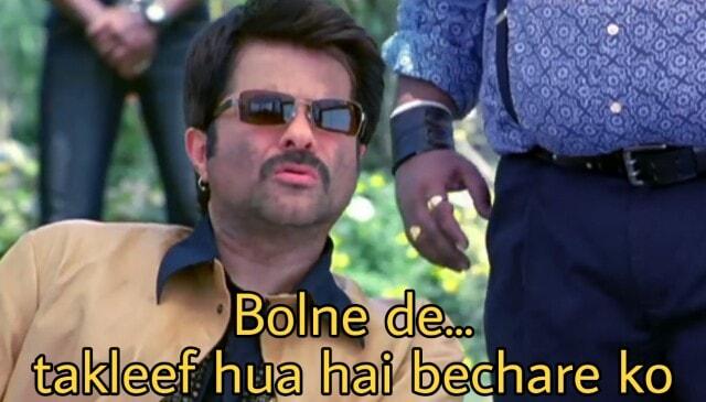 Bolne de takleef hua hai bechare ko welcome dialogue and meme by anil kapoor as majnu bhai