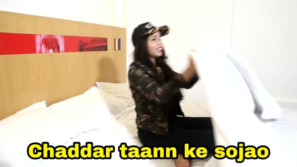 chaddar taann ke sojao Dhinchak Pooja song meme