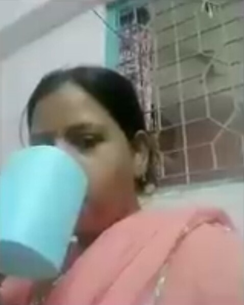 Hello Friends Chai Pilo aunty meme template