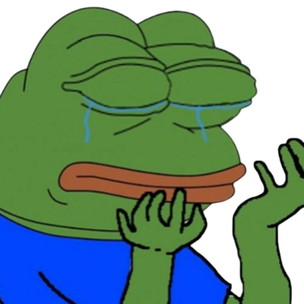 crying pepe meme template