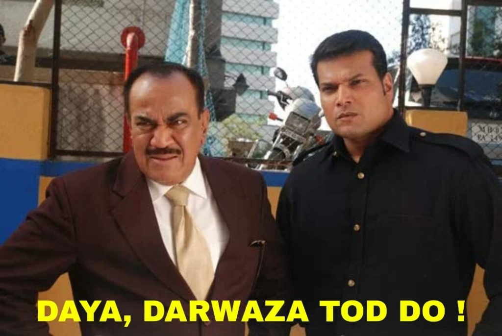 Daya darwaza tod do ACP Pradyuman dialogue in cid telling daya to break the door
