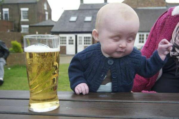 Drunk baby meme template