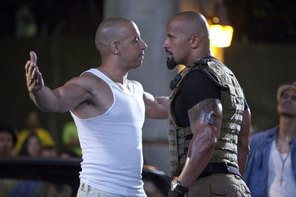 fast and furious five vin diesel and the rock faceoff this is brazil meme template