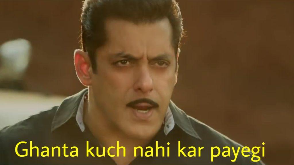 salman khan as chulbul pandey in dabangg 3 dialogue ghanta kuch nahi kar payegi