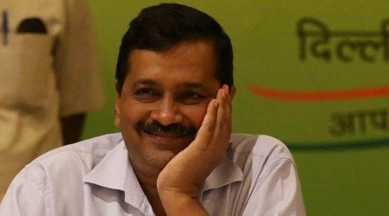 happy arvind kejriwal laughing