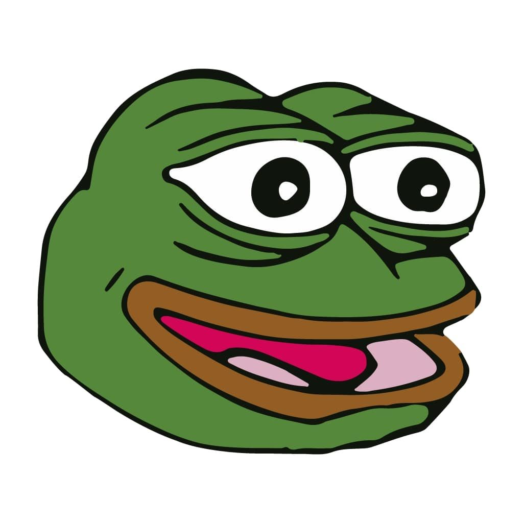 Happy pepe the forg feels good meme template