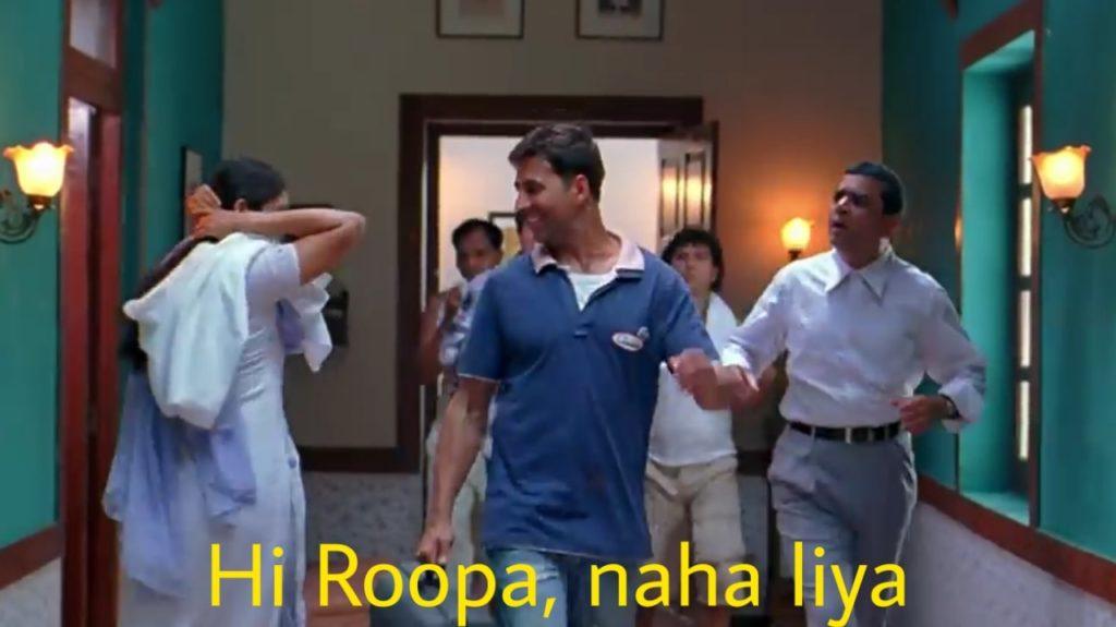 hi roopa naha liya akshay kumar in bhagam bhag meme