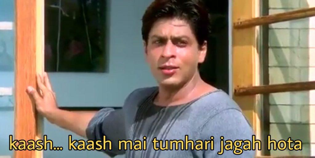 Shah Rukh Khan Kal Ho Na Ho dialogue kaash kaash mai tumhari jagah hota