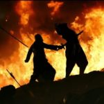Kattappa back stabbing Baahubali movie scene