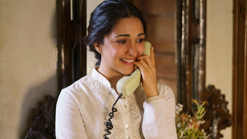 Kiara Advani Talking On A Telephone Shershaah movie meme template