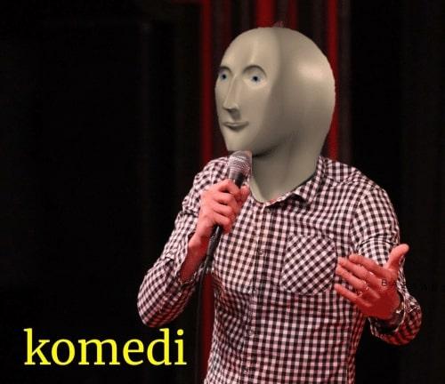 komedi surreal meme man template