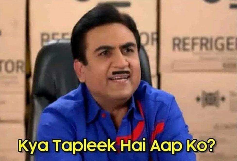 Kya tapleek hai aap ko ethalal Gada of the tv series TMKOC funny dialogue