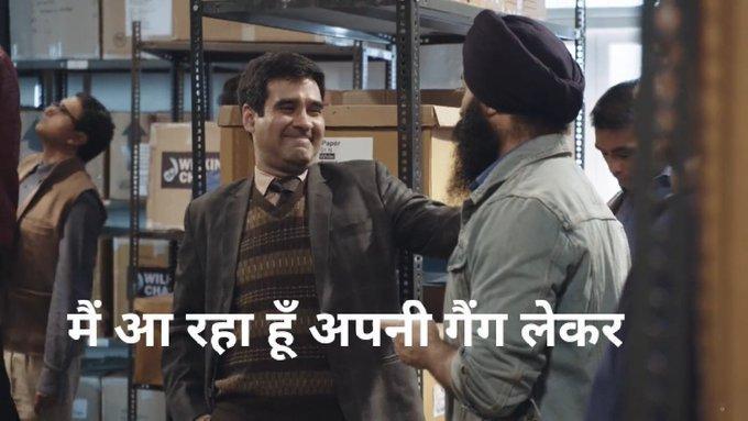 jagdeep chadda as mukul chadda in the office india funny dialogue and meme mai aa raha hu apni gang lekar