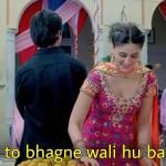 mai to bhagne wali hu bahut tez Kareena Kapoor meme template