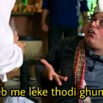Manoj Joshi as Kachra Seth in Phir Hera Pheri dialogue and meme template main jeb me leke thodi ghumta hun