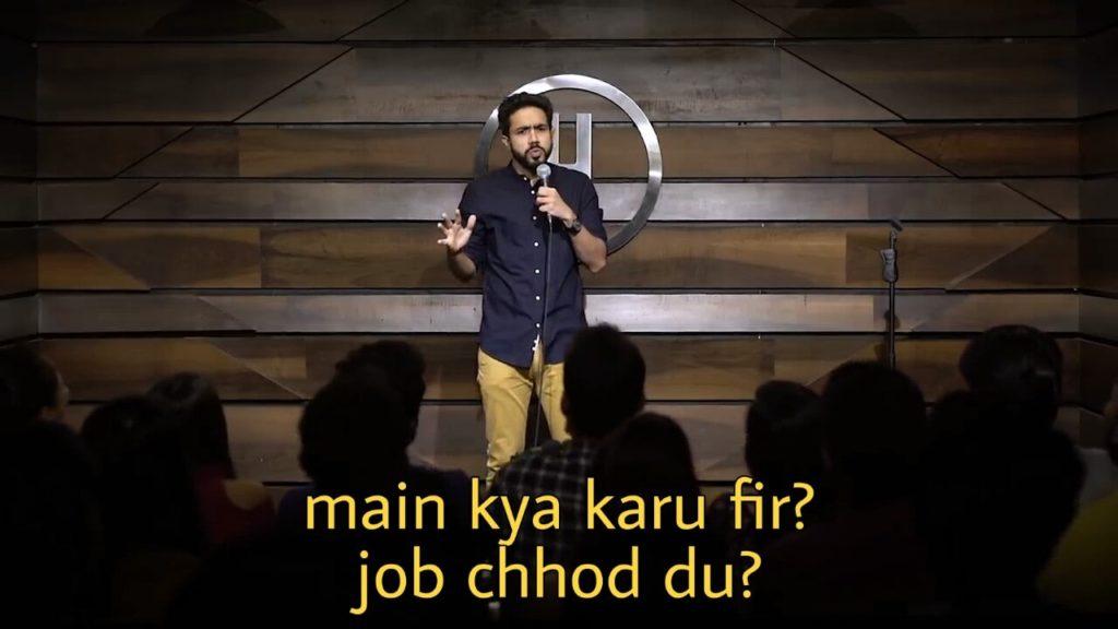 main kya karu fir job chhod du Abhishek Upmanyu standup comedy meme