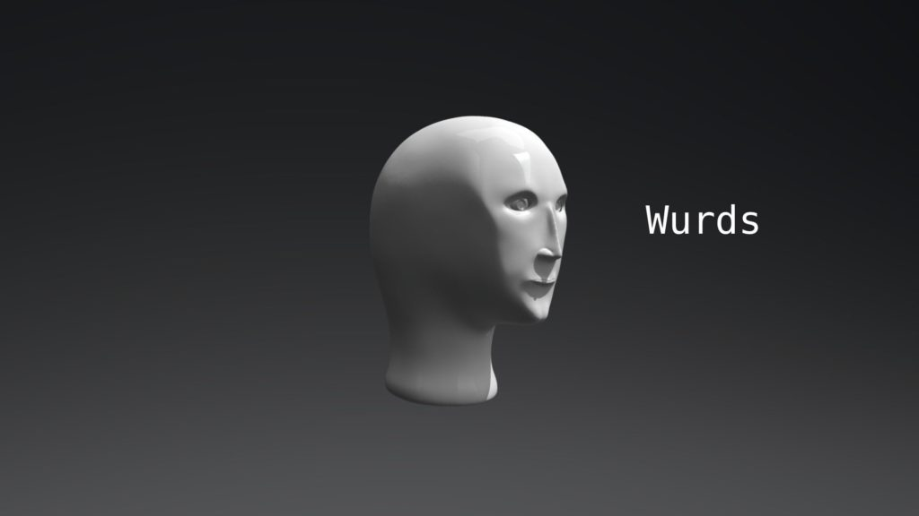 meme man wurds template