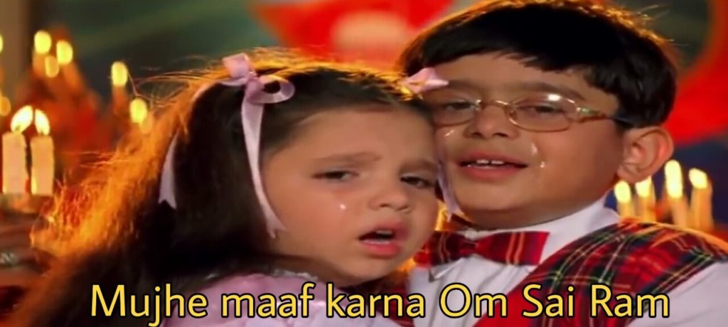 Mujhe maaf karna Om Sai Ram meme template