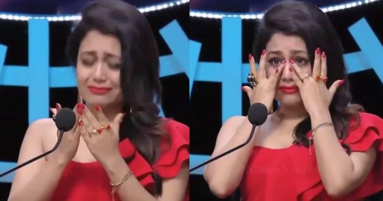 neha kakkar crying in indian idol photo memes template