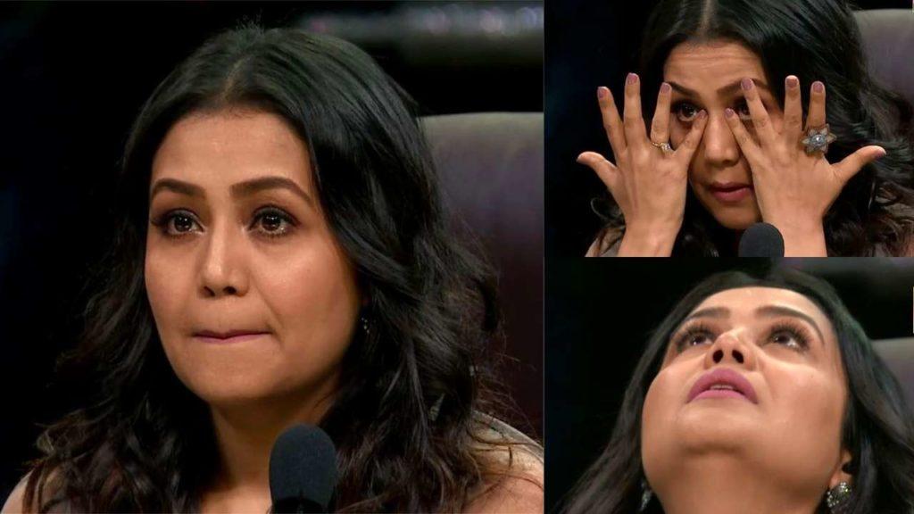 neha kakkar crying photo memes template indian idol
