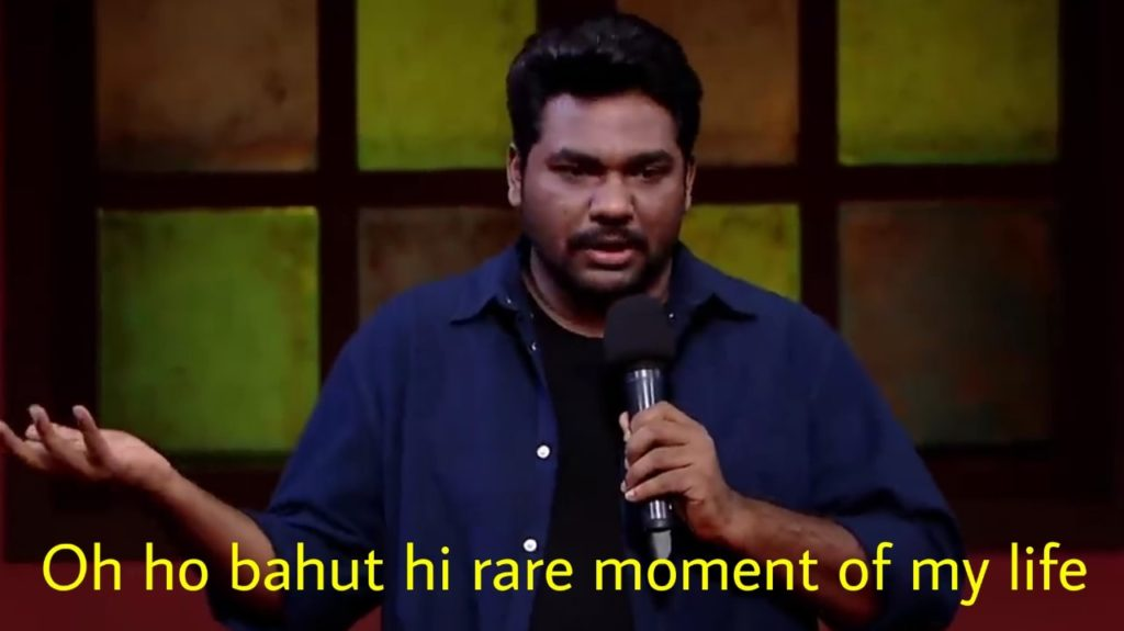 zakir khan in amazon prime special standup comedy video oh ho bohut hi rare moment of my life