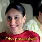 oho possessive Kareena Kapoor Khan in Jab we met movie meme template