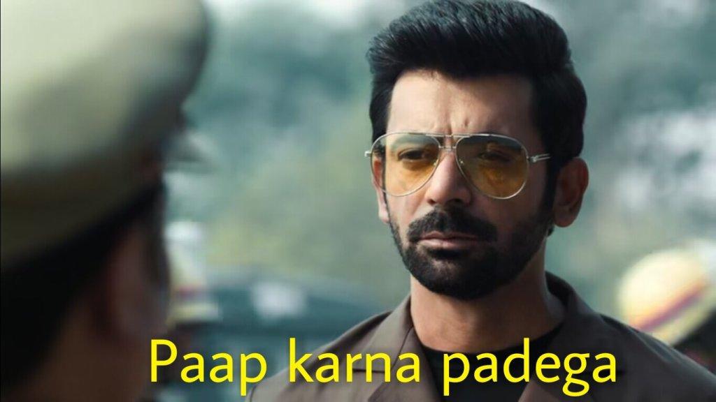 paap karna padega Sunil Grover in tandav meme template