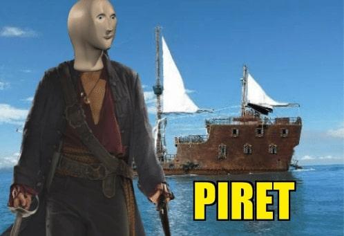 Piret surreal meme man template