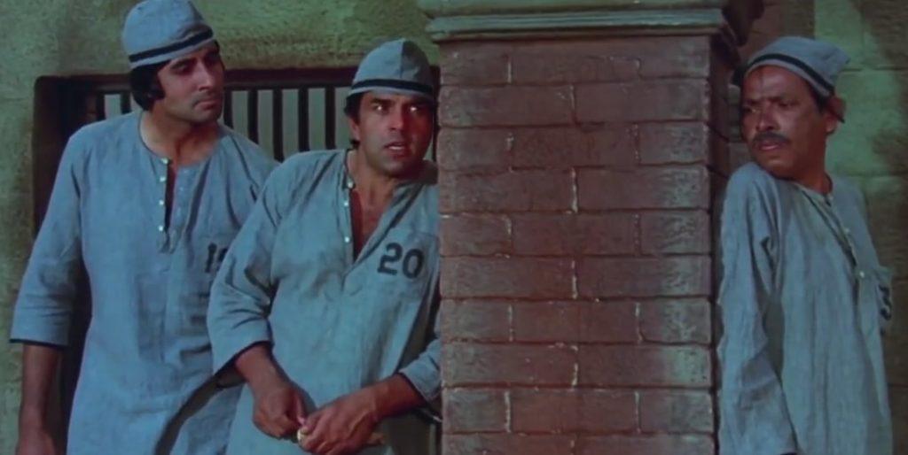 Police spy listening jai and Veeru's conversation Sholay meme