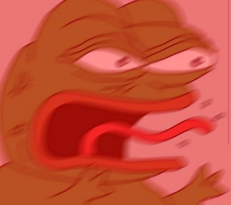 Rage Pepe meme template