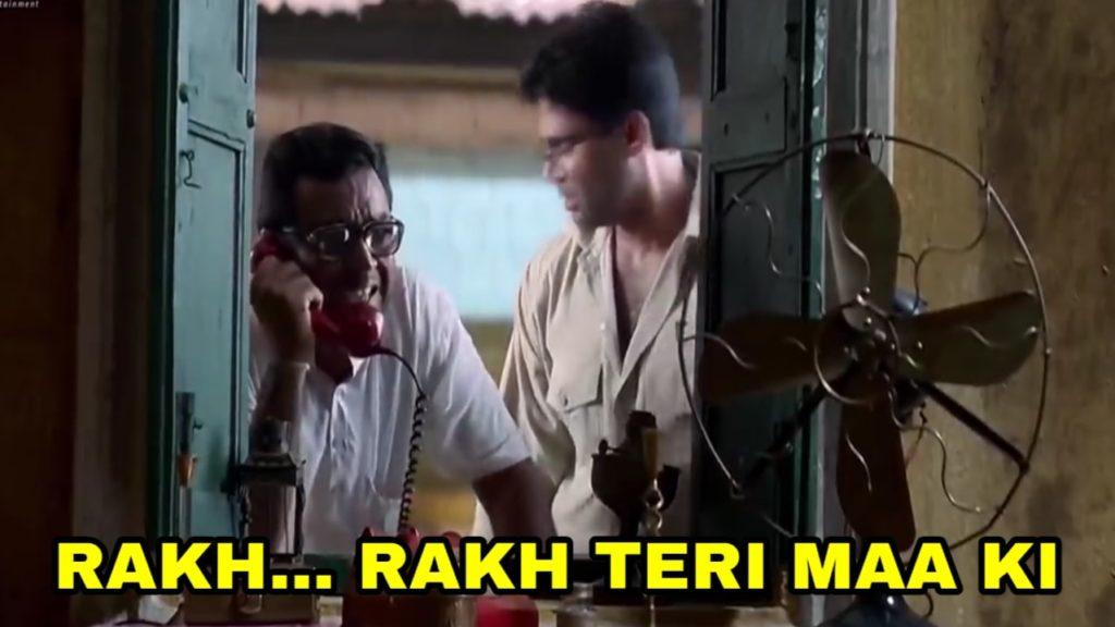 rakh rakh teri maa ki phir hera pheri movie babu bhaiyaa meme template