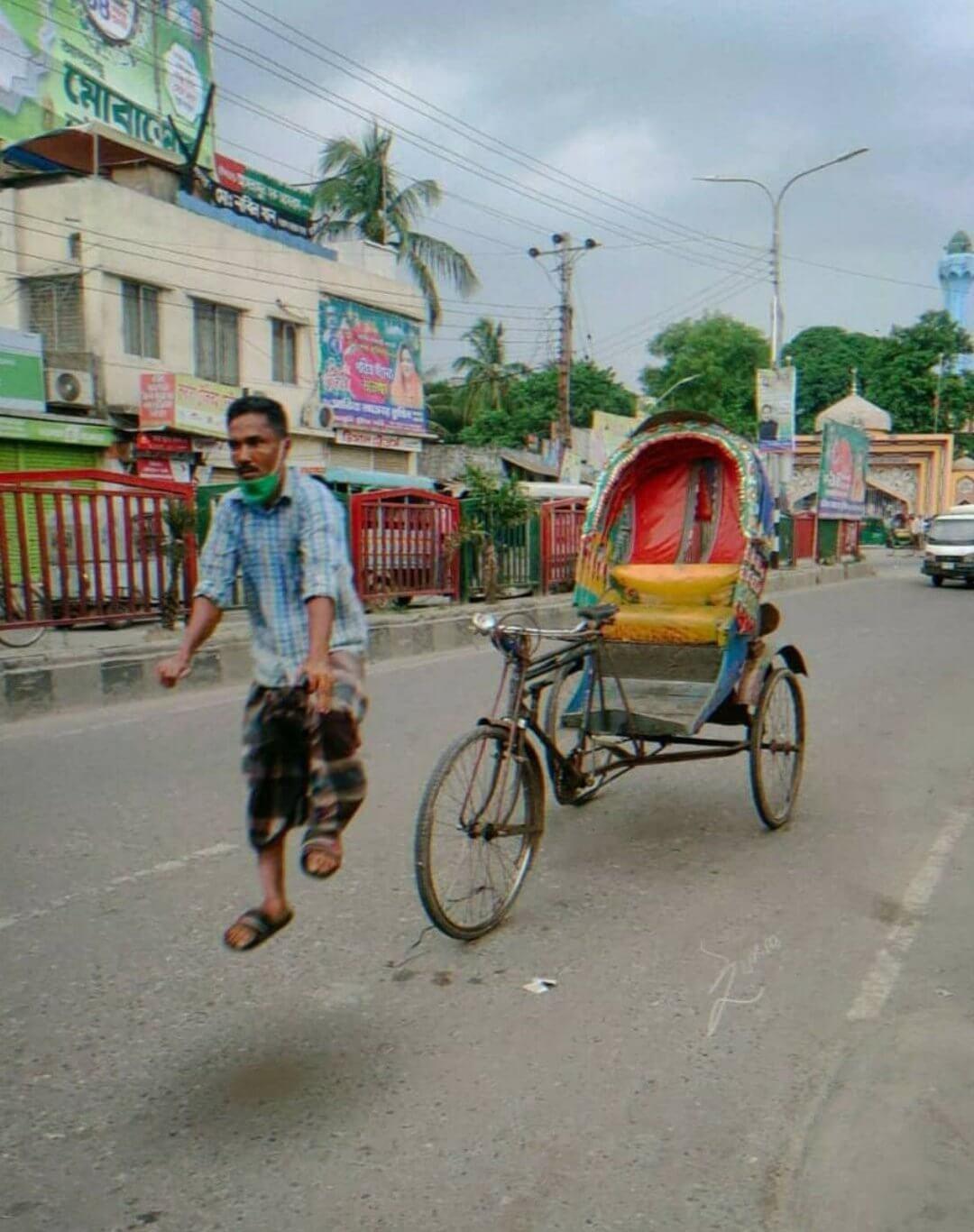 rickshaw puller man riding meme