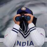 rohit sharma binoculars watching world test championship final