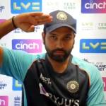 rohit sharma saluting at a press conference meme