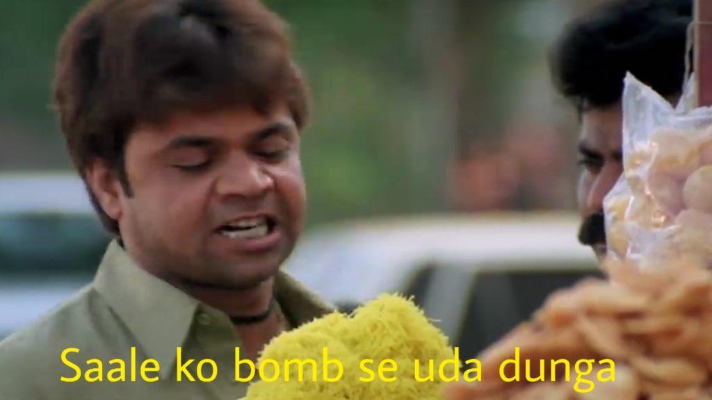 Saale ko bum se uda dunga rajpal yadav as pappu in phir hera pheri movie dialogue and meme