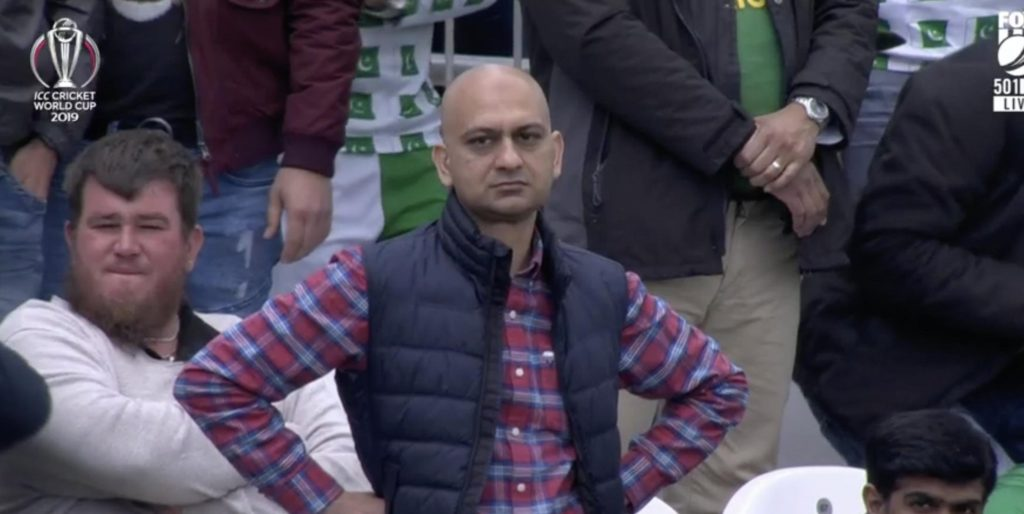 Angry Pakistani fan Uncle india vs pakistan icc world cup 2019 meme