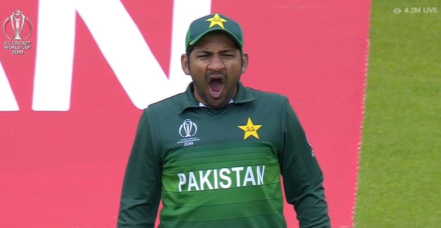 sarfaraz ahmed yawning during india vs pakistan match meme