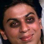Shahrukh Khan with Dark circles under the eyes smiling meme