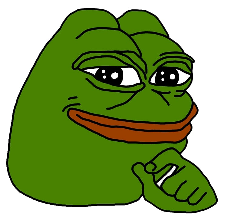 smug pepe meme template