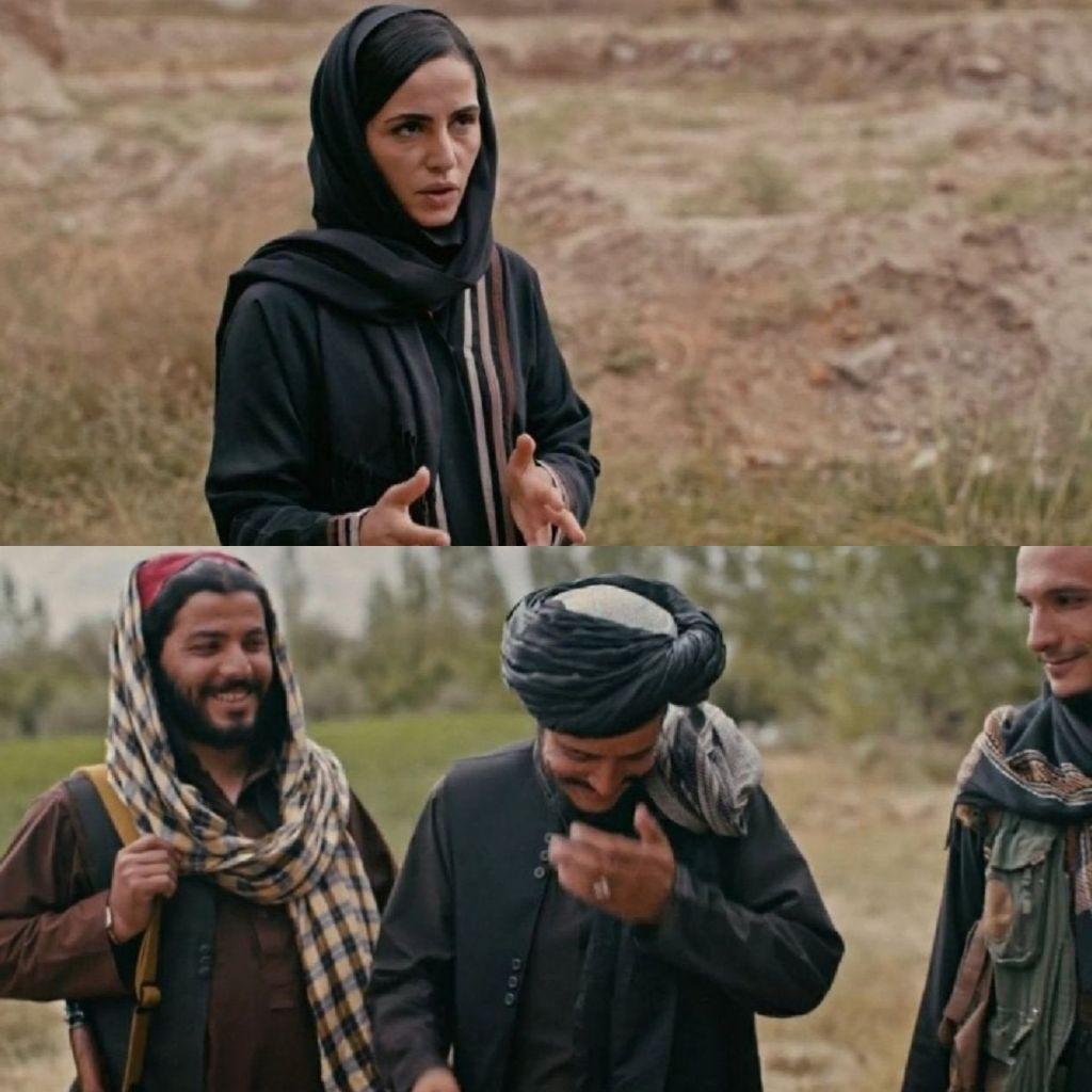 Taliban fighters laughing at journalist's question meme template