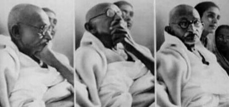 Mahatma Gandhi Thinking meme