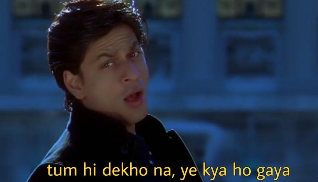 Shahrukh Khan in Kabhi Alvida Naa Kehna tum hi dekho na ye kya ho gaya song