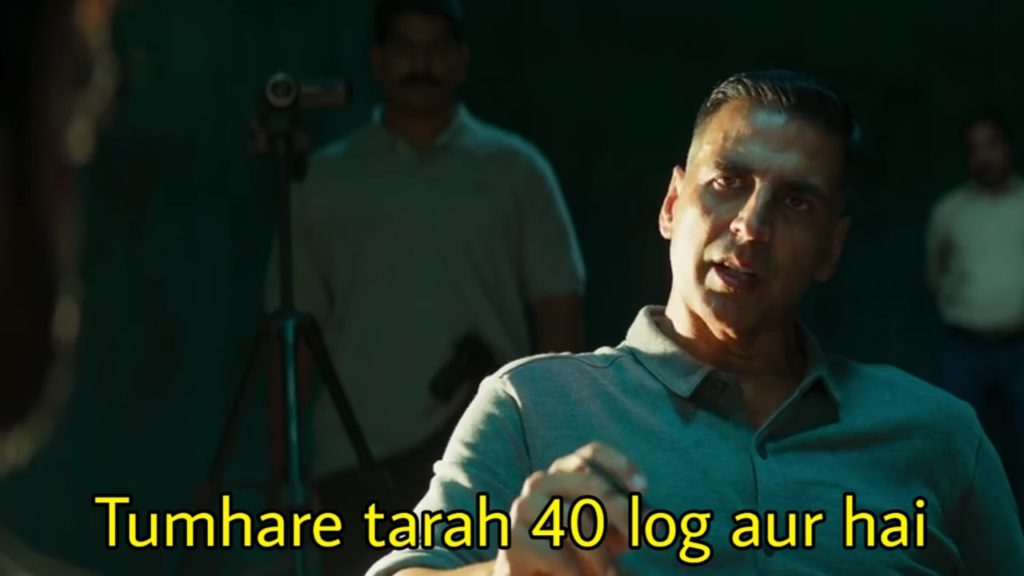Tumhare tarah 40 log aur hai akshay kumar dialogue and meme in Sooryavanshi movie