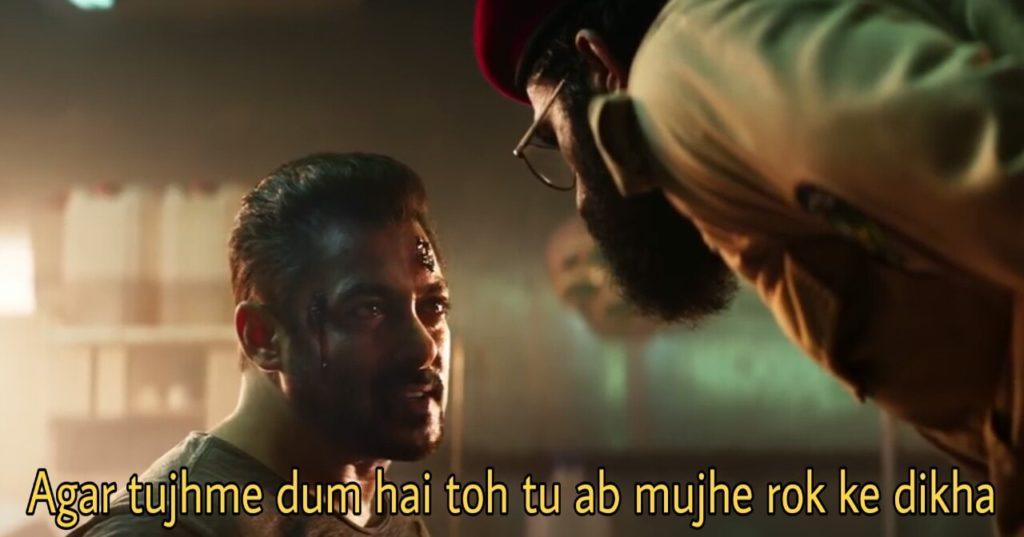 Agar tujhme dum hai toh tu ab mujhe rok ke dikha salman khan tiger zinda hai dialogue and meme