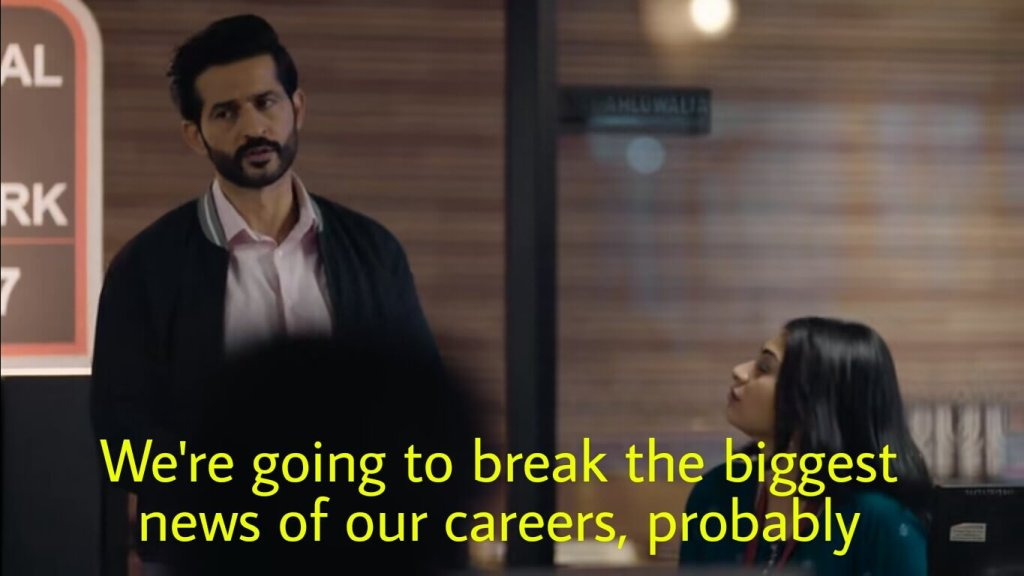 We are going to break the biggest news of our careers probably tandav dialogue